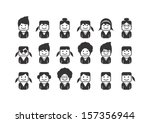 user picture icon set part one | Shutterstock .eps vector #157356944