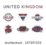 england stamp label collection...   Shutterstock .eps vector #157357253