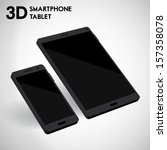 3d vector smartphone and tablet | Shutterstock .eps vector #157358078
