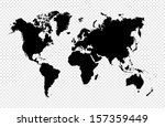Black Silhouette World Map...