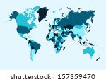 blue countries world map atlas. ... | Shutterstock .eps vector #157359470