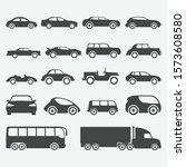 set of car icon design. car and ... | Shutterstock .eps vector #1573608580