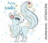 hand drawn beautiful cute... | Shutterstock .eps vector #1573631506