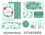 wedding invitation templates....   Shutterstock .eps vector #1573633003