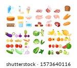 vector illustration of food... | Shutterstock .eps vector #1573640116