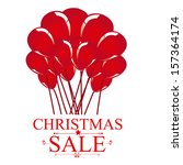 christmas sale  over white... | Shutterstock .eps vector #157364174