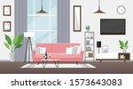 living room flat vector... | Shutterstock .eps vector #1573643083