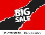 big sale banner design with... | Shutterstock .eps vector #1573681090
