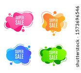 set abstract triangle banner... | Shutterstock .eps vector #1573696546