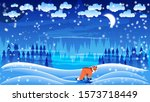 wild red fox among the... | Shutterstock .eps vector #1573718449