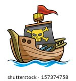 pirate ship | Shutterstock .eps vector #157374758