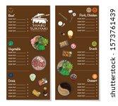menu shabu sukiyaki restaurant... | Shutterstock .eps vector #1573761439