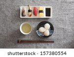 japanese sushi and sashimi   ... | Shutterstock . vector #157380554