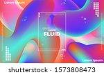trendy geometric background. 3d ...   Shutterstock .eps vector #1573808473