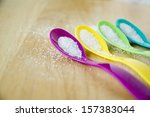 Close Up Colourful Spoons With...