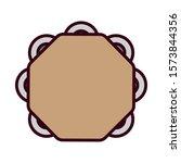 mexican tambourine design ... | Shutterstock .eps vector #1573844356
