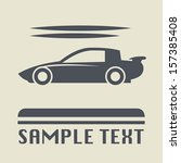 race car icon or sign  vector... | Shutterstock .eps vector #157385408