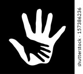 illustration of hand in hand in ... | Shutterstock .eps vector #157386236