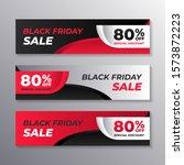 black friday sale web banner...   Shutterstock .eps vector #1573872223