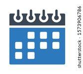 calendar vector glyph color...