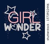 pink glitter text star polka... | Shutterstock .eps vector #1573922446