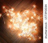 Christmas Lights Garland On A...