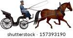 horse cart  izvozchik  coachman ... | Shutterstock .eps vector #157393190