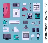 home appliance color flat...   Shutterstock .eps vector #1573933219