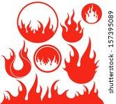 Fire. Logo. Vector Illustratio...