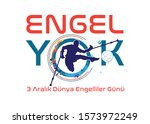 engel yok  3 aral k d nya... | Shutterstock .eps vector #1573972249
