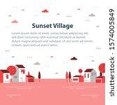 autumn season in small town ...   Shutterstock .eps vector #1574005849