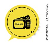 black ticket icon isolated on... | Shutterstock .eps vector #1574029123
