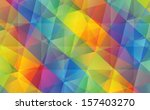 abstract colorful geometric... | Shutterstock .eps vector #157403270
