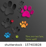 advertising,animal,badge,banner,black,cartoon,cat,claws,colorful,cutout,dark,dog,foot,foot print,footprint