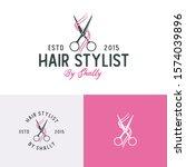 creative illustration scissor...   Shutterstock .eps vector #1574039896