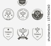 tennis labels and badges set | Shutterstock .eps vector #157404260
