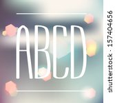 condensed white letters a b c d.... | Shutterstock .eps vector #157404656