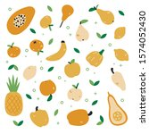 big set with hand drawn... | Shutterstock .eps vector #1574052430