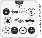 hipster style badges set | Shutterstock .eps vector #157405706