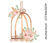 Hand Painted Watercolor Rusty...
