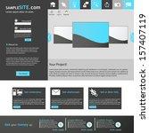 flat web design template.  | Shutterstock .eps vector #157407119