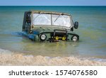 Car Stuck Mud Or Submerged In...