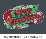 merry christmas background for...   Shutterstock .eps vector #1574081149
