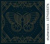 Butterfly Illustration Label...