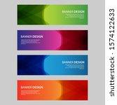 vector abstract design banner... | Shutterstock .eps vector #1574122633