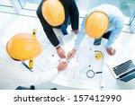 image of constructor workers... | Shutterstock . vector #157412990