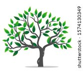 green leaf trees are isolated... | Shutterstock .eps vector #1574130349