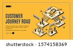 customer journey road isometric ... | Shutterstock .eps vector #1574158369