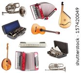 musical instruments isolated on ... | Shutterstock . vector #157420049