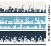 industrial factory buildings... | Shutterstock .eps vector #157420820